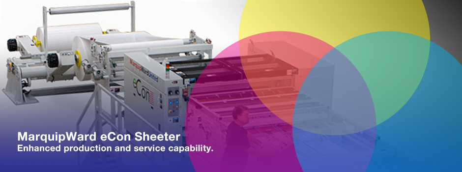 MarquipWard eCon Sheeter at Quest Graphics G7 Master Printer St Louis MO USA